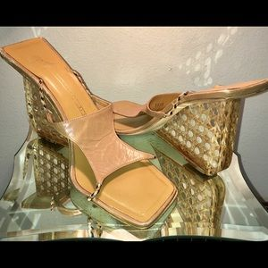 Giuseppe Zanotti Plexiglass Latticework Wedges